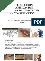 PP-11 INTRODUCCIÓN PLANIFICACIÓN GENERAL DEL PROYECTO DE CONSTRUCCIÓN