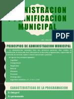 ADMINISTRACION  Y PLANIFICACION MUNICIPAL