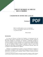 ASTRONOMIE ET MUSIQUE AU SIECLE DES LUMIERES - Dominique Proust