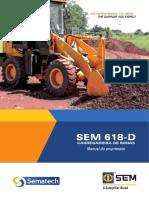 Pá Carregadeira SEM618D Manual
