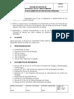 I-PDR-007 Elementos de Protección Personal