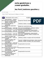 DTC_ Códigos originales Ford (motores gasolina y diesel)_