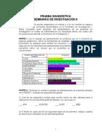 PRUEBA DIAGNÓSTICA SEMINARIO DE INVESTIGACIÓN II