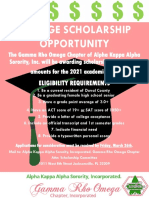 2021 GRO Scholarship Flyer A