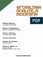 Geometria Analitica Moderna (Wooton)