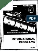 International Programs May 1973