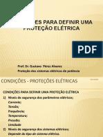 APRESENTAÇÃO II - CONDIÇÕES PARA DEFINIR UMA PROTEÇÃO ELÉTRICA