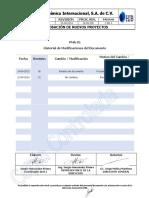 PMA-01 Aprobación de Nuevos Proyectos