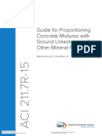 211.7R-15 Guide for Proportioning Concrete Mixtures with Ground Limestone and Other Mineral Fillers