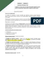 Seminar 1 si 2 PG - Stiinta DP.Izvoarele DP.Interpretarea LP.Raportul juridic