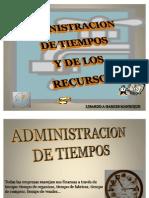 Administración del tiempo y de los recursos