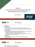 Unidad I - Parte 3 - Mercantilidad y Actos de Comercio