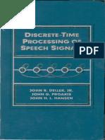 Discrete Time Processing of Speech Signals ____Proakis