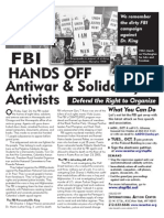 FBI -  HAnDs oFF Antiwar & solidarity Activists