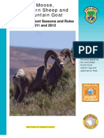 2011-2012 Idaho Moose, Bighorn Sheep and Mountain Goat Controlled Hunt Seasons and Rules