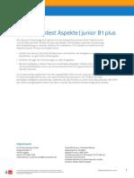 Einstufungstest Aspekte Junior B1 Plus