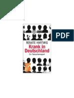 Hartwig, Renate - Krank in Deutschland - Ein Tatsachenreport