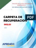 Carpeta de Recuperación - Ingles 2021 Enero-febrero
