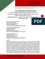 Pedagogia da pandemia- reflexões sobre a educação em tempos de isolamento social