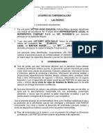 Acuerdo de confidencialidad LDLG