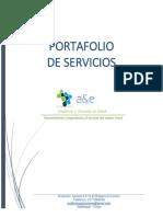 PORTAFOLIO DE SERVICIO A&E AUDITORIA Y ASESORIA EN SALUD