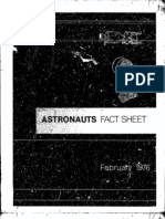 Astronauts Fact Sheet February 1976