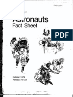 Astronauts Fact Sheet 1979