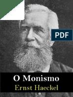 O Monismo - Ernst Haeckel