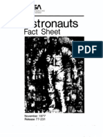 Astronauts Fact Sheet November 1977