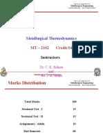 Metallurgical Thermodynamics