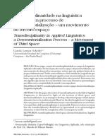 SCHEIFER RBLA 2013 transdiciplinaridade em LA terceiro espaço