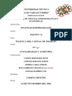 POLÍTICA DEL CAPITAL DE TRABAJO