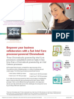 Empoweryour business collaborators with a fast IntelCoreprocessor-powered Chromebook