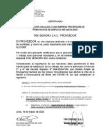 Certificado libre transito - Señor Taxi- ALICORP-convertido