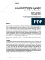 Comparativo Entre Efeito Da Carbonatação Em Corpos