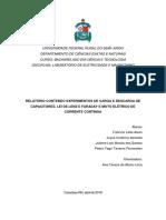 RELATÓRIO CONTENDO EXPERIMENTOS DE ELETROSTÁTICA COM O GERADOR DE VAN DE GRAAFF, INSTRUMENTOS DE MEDIDAS ELÉTRICAS E SUPERFÍCIES EQUIPOTENCIAIS