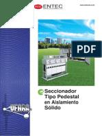 Seccionador Tipo Pedestal en aislamiento solido marca Entec Electric