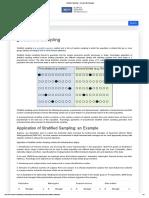 Stratified Sampling - Research Methodology