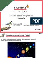 A Terra Como Um Planeta Especial