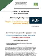Chapitre 3 - Canalisations (1)
