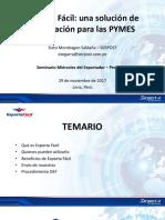 SESION 13 Declaración de Exporta Fácil