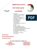 Chrsitmas Song Pictre Game Answer Key