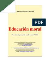 Educación Moral Durkheim Trad