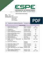 Listado de las Instituciones  Financieras  del sector Público, Sector Privado y Sector Financiero Popular y Solidario