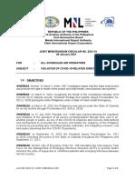 Joint Memorandum Circular No. 2021-01