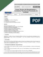 NPA 003 - Corpo Técnico de Normatização e Comissões Técnicas de Prevenção de Incêndio - Dez 2018