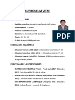 Curriculum Vitae Antony Loyaga
