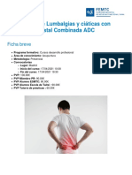 Tratamiento de Lumbalgias y Ciaticas Con Acupuntura Distal Combinada Adc