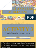 3. Subject and Verb Agreement