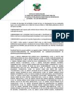 Edital de Homologação - Edital 001